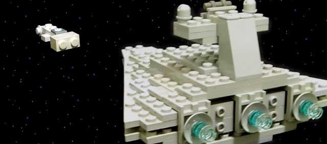 A LEGO Star Destroyer
