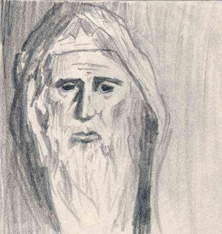 King David Drawing King David as an Old Man